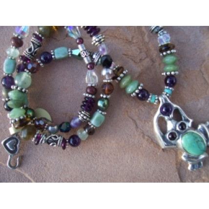 Silver and Gemstone Enchanted Frog Necklace by Robert Shields