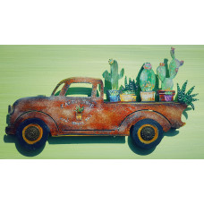 "Cactus Shop Truck In Rust Tones ""Can't Touch This"""