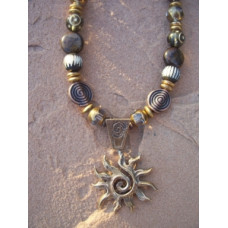 Bronze Sun Necklace