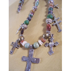 Sterling Silver Celebration of The Cross Necklace by Robert Shields
