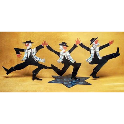 Dancing Rabbi Trio on a Stand