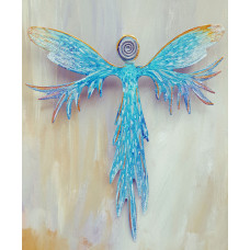 Lavender and Turquoise Angel