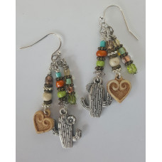 Cactus Heart Earrings
