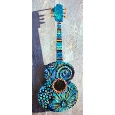 Small Turquoise Guitar