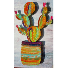 Fanciful Cactus In Pot (Large)
