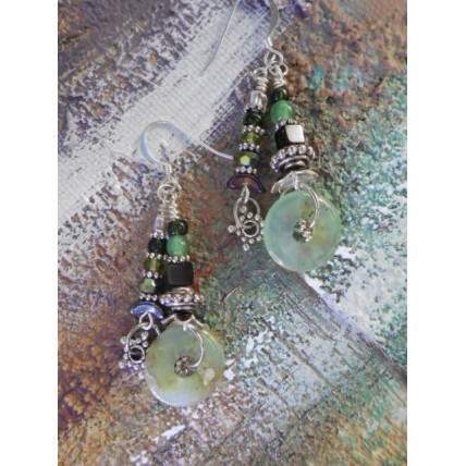 Lucky Jade Earrings by Robert Shields