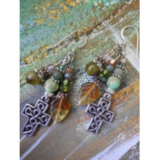 Autumn Cross Earrings