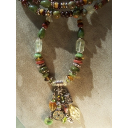 Ancient Garden treasure  Necklace by Robert Shields