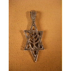Sterling Silver Star of David Pendant by Robert Shields