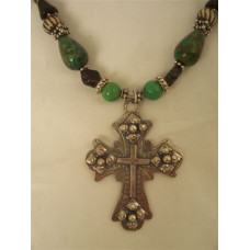 "16"" Sterling Silver Spanish Cross Necklace by Robert Shields"
