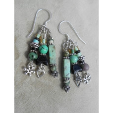 Turquoise Treasure Earrings by Robert Shields