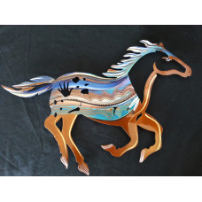 Wild Copper And Blue Mustang