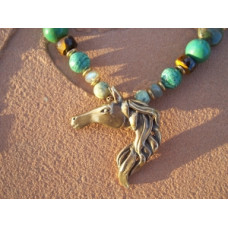 Bronze Stallion Necklace
