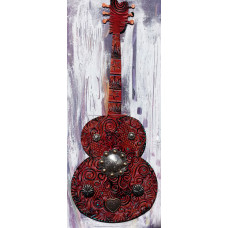 Red Concho Guitar