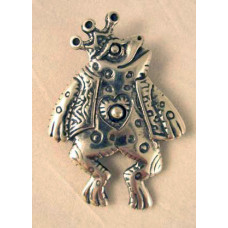 Sterling Silver Frog Prince Pendant by Robert Shields