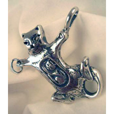 Momma Kitty Sterling Silver Pendant by Robert Shields