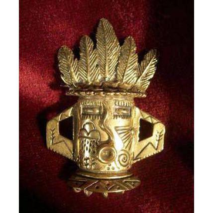 Bronze Kachina Mask Brooch by Robert Shields