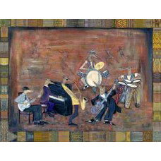 "Coyote Blues Band - Giclee - 16""x20"" by Robert Shields"