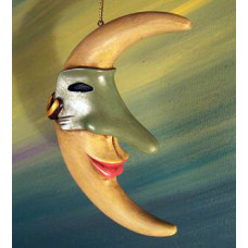 Masked Moon Ornament by Robert Shields