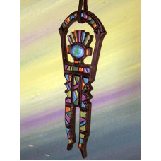 Mosaic Shaman Ornament by Robert Shields