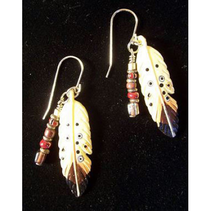 Spirit Feather Earrings by Robert Shields
