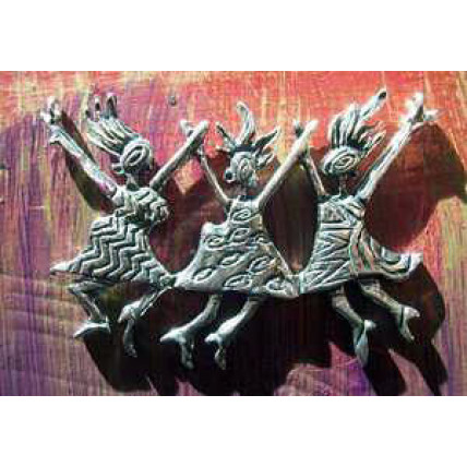 Sterling Silver Wild Sisters Brooch by Robert Shields