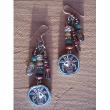 Fimo indian spirit earrings