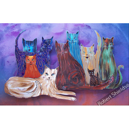 Cats In The Hood - Purple