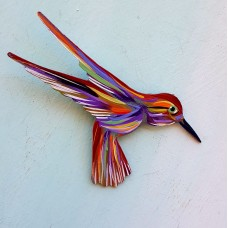 A Beautiful Hand Painted Hummingbird