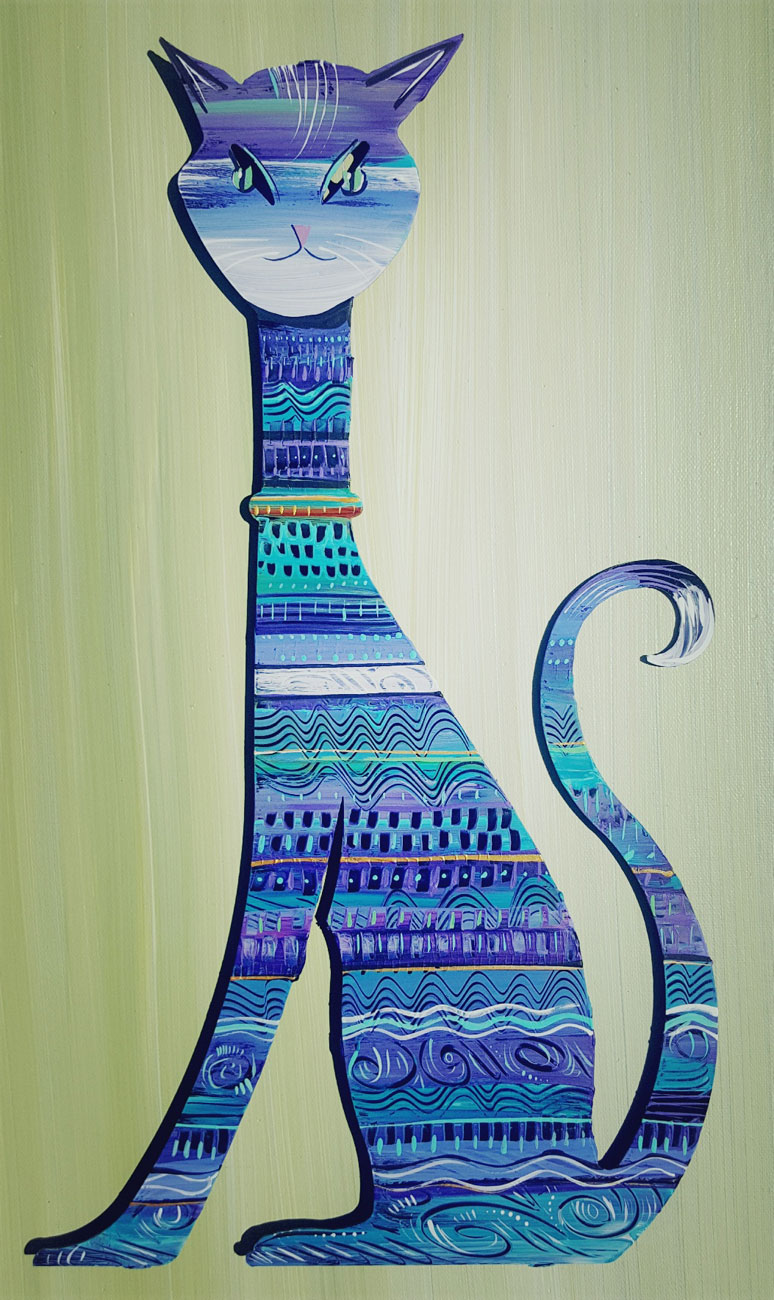 Lavender And Turquoise Cat