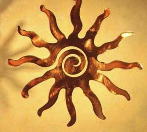 """24"""" Copper Spiral Sun"""