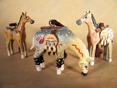 Spirit Ponies ornaments by Robert Shields (set of 3)