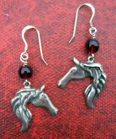 Sterling Silver Horse Earrings by Robert Shields